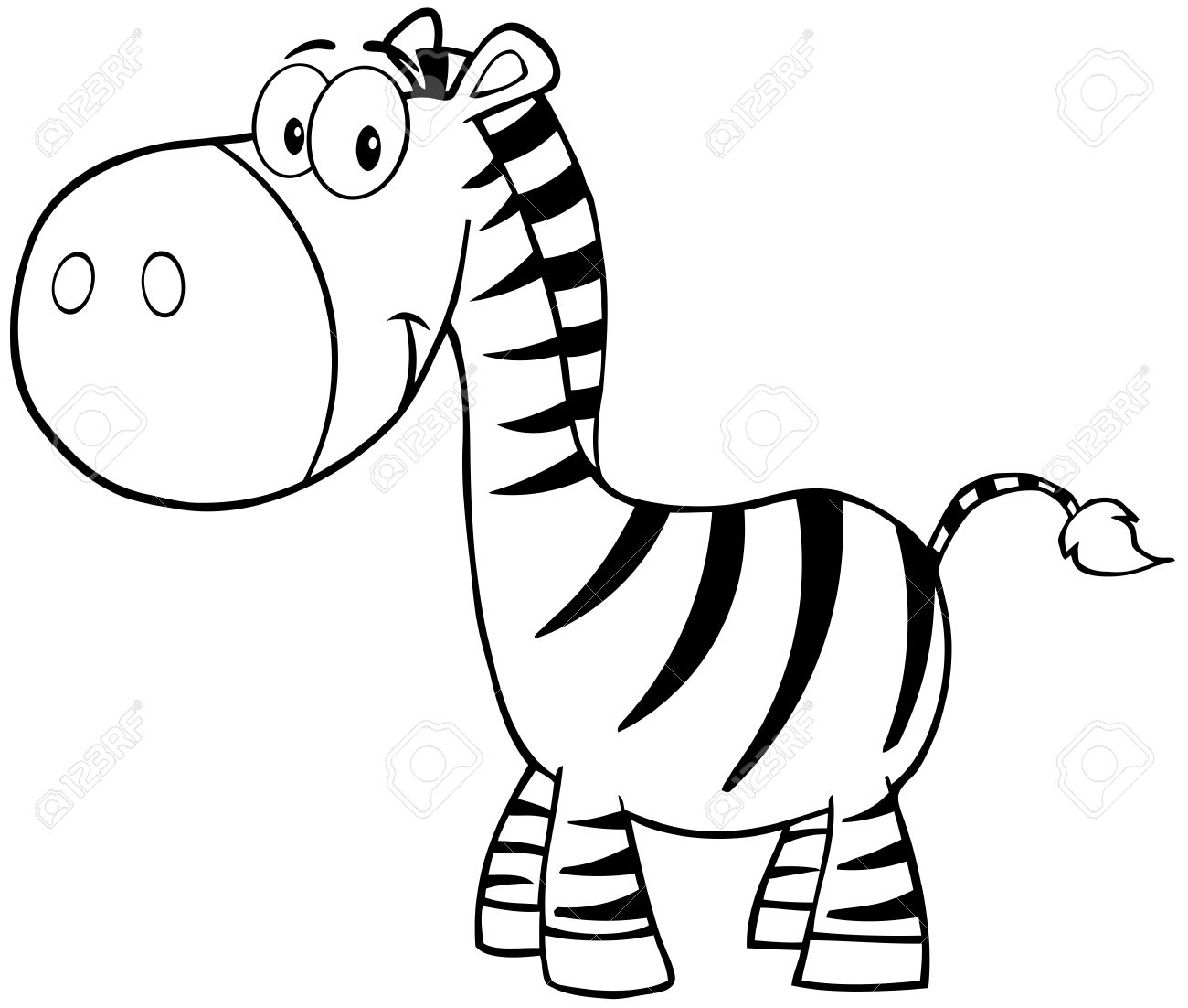 Animated Zebra Cliparts