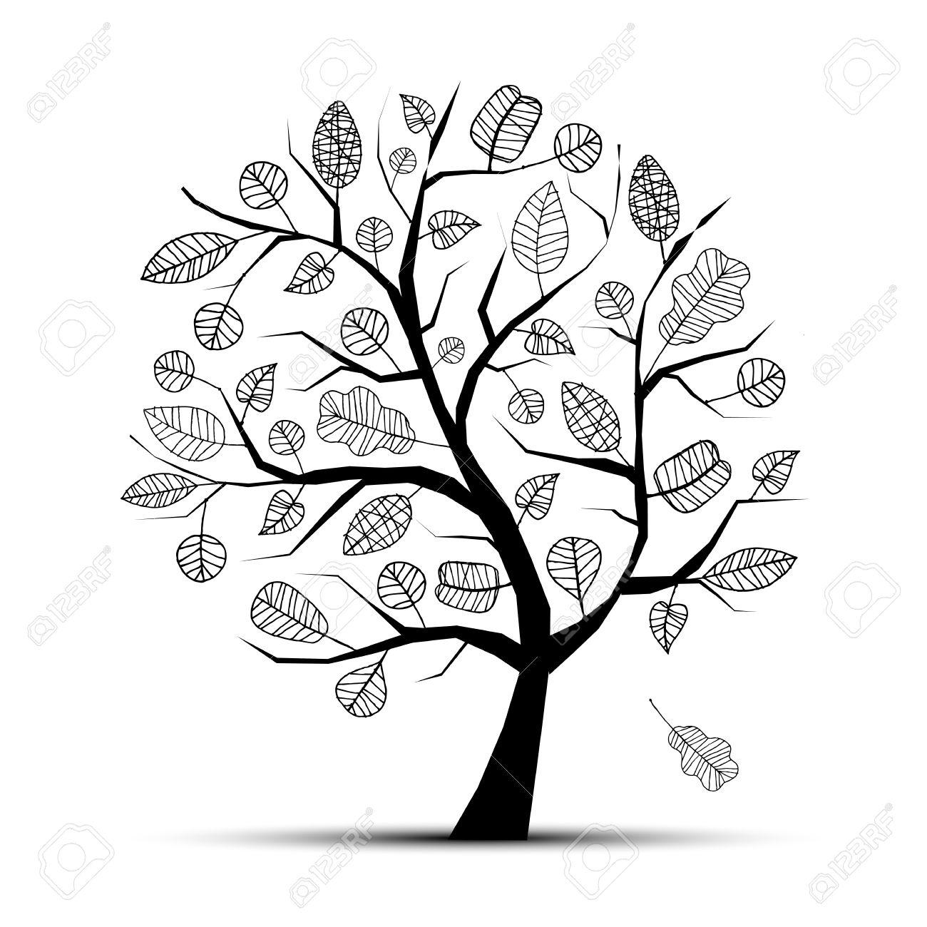 Apple Tree Drawing