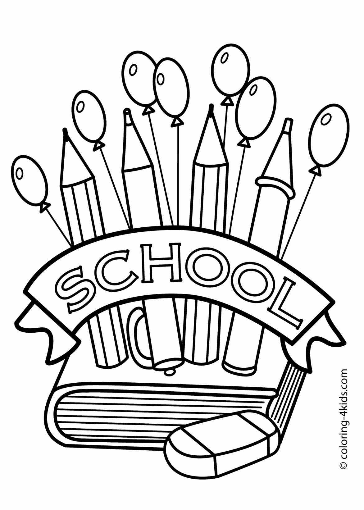Art Supplies Coloring Pages