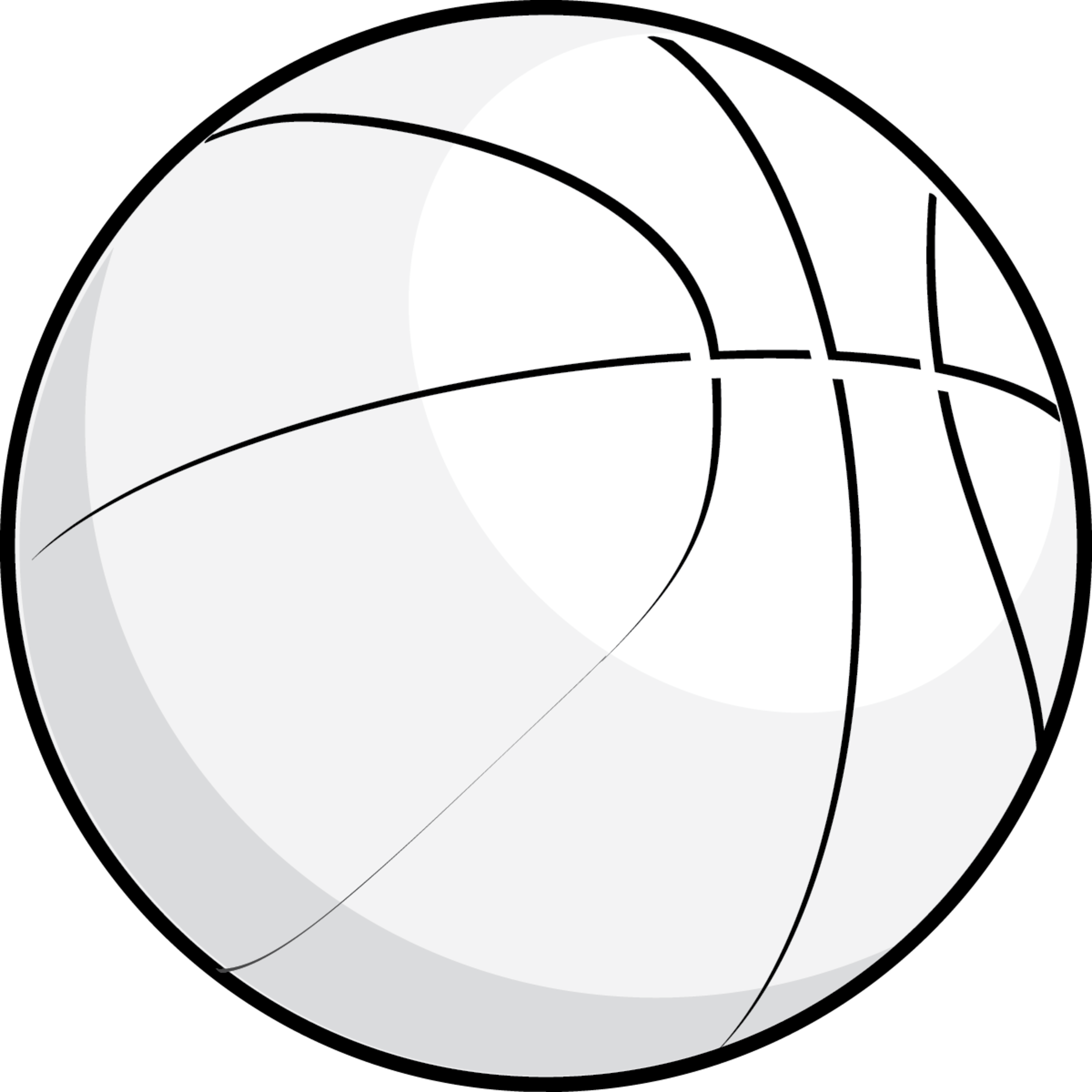 Basketball Clipart Black And White Free