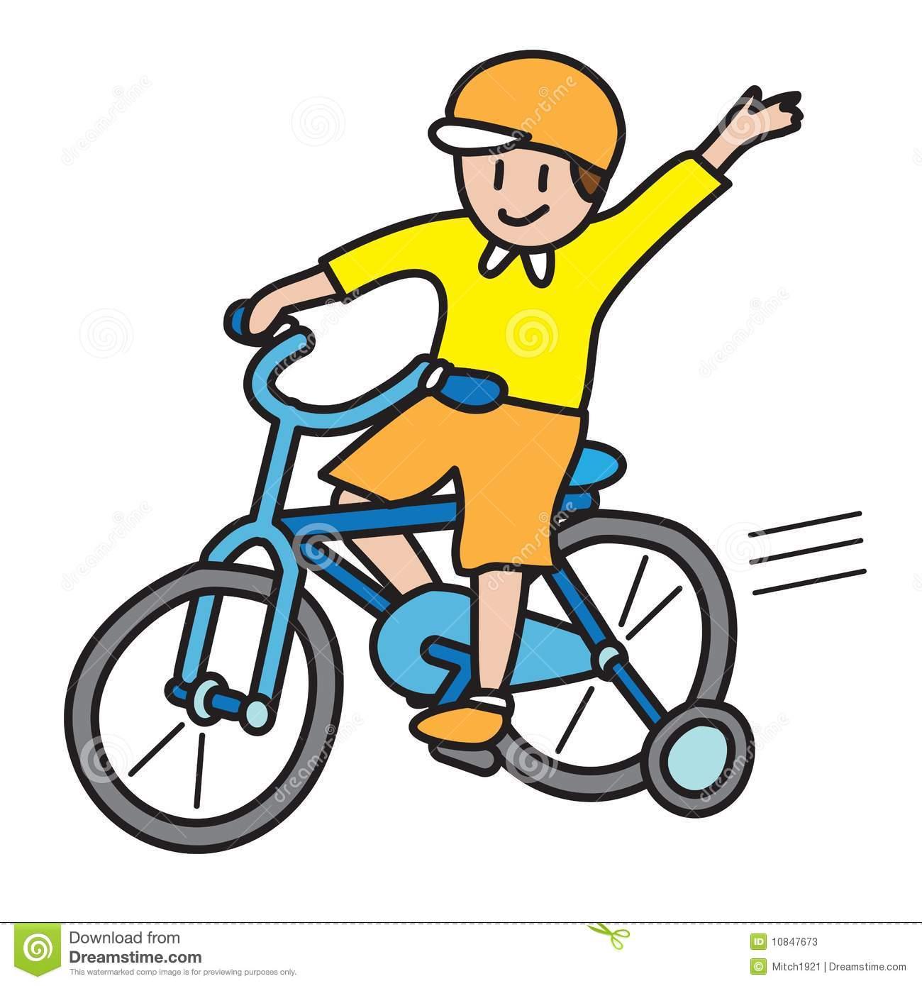 Kid Riding Bike Clipart