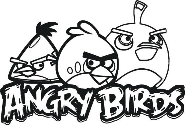 angry bird coloring page # 15