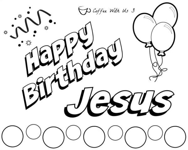 happy birthday jesus coloring page # 10
