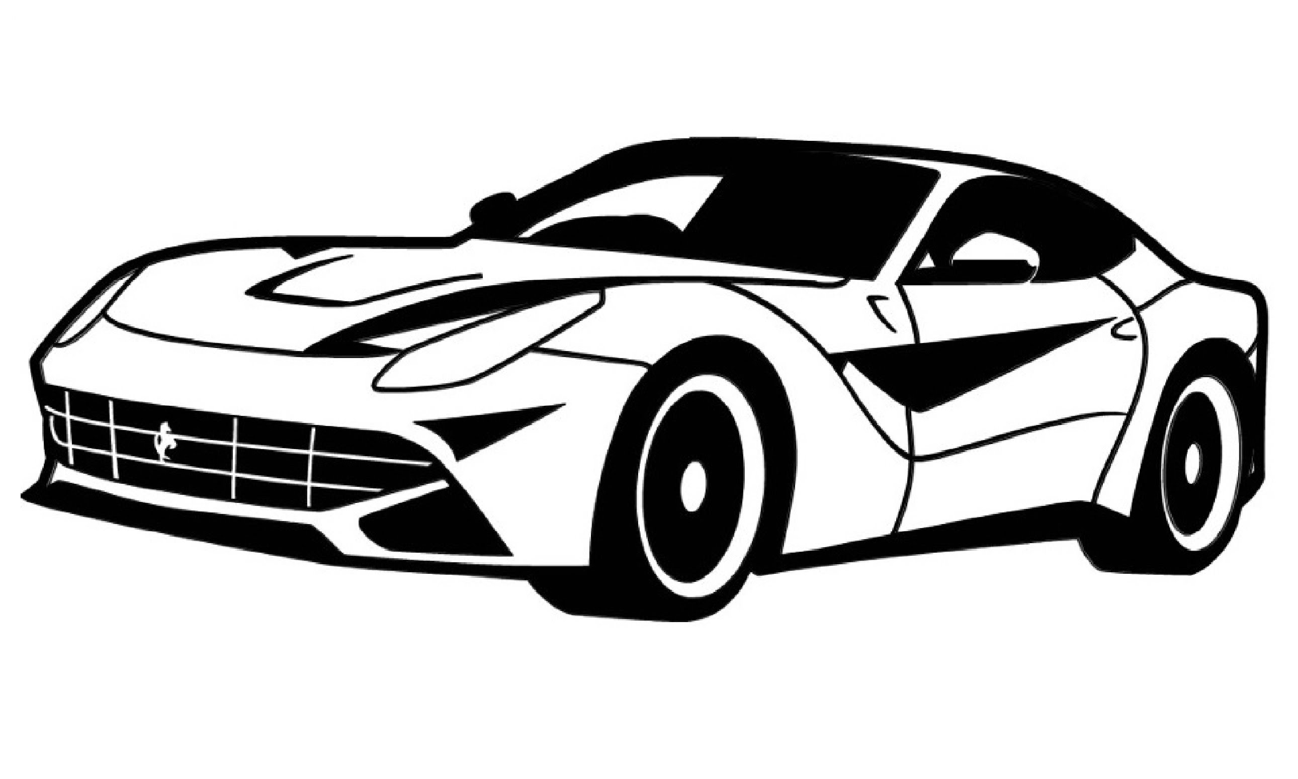 Black And White Car Drawings