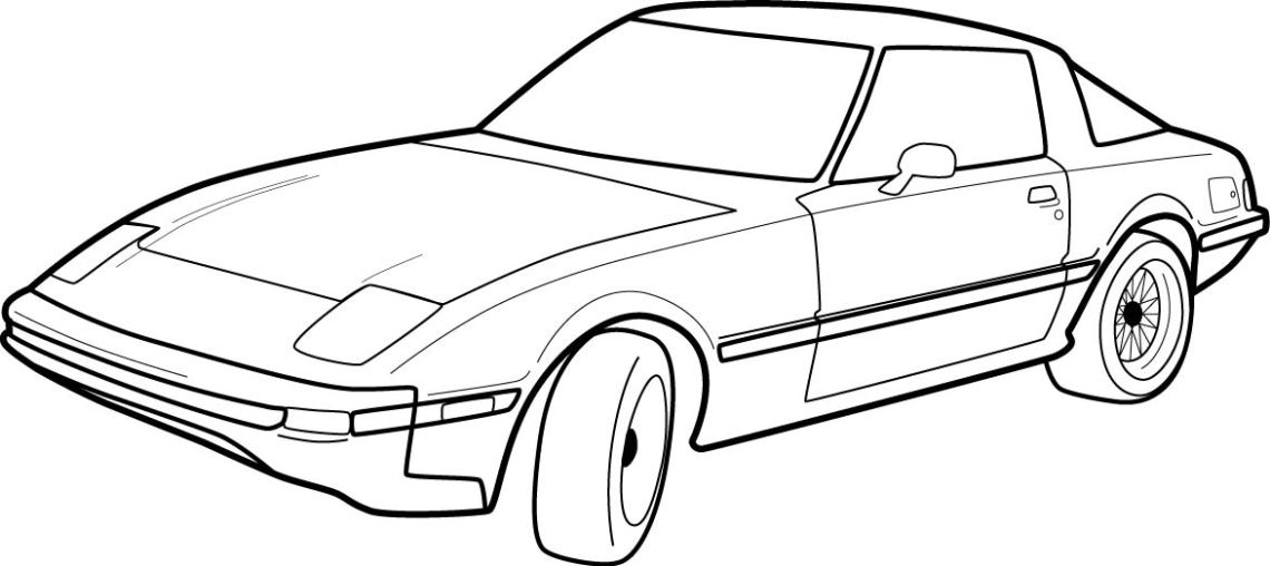 Black And White Car Drawings   Free download on ClipArtMag