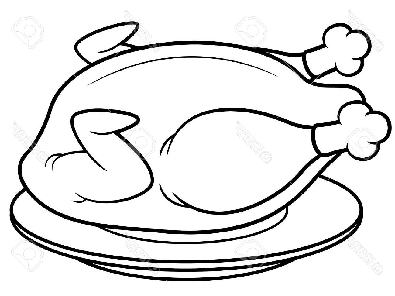 Black And White Chicken Clipart