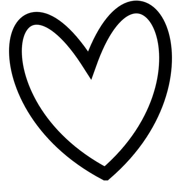 Black And White Clipart Love | Free download on ClipArtMag (600 x 600 Pixel)