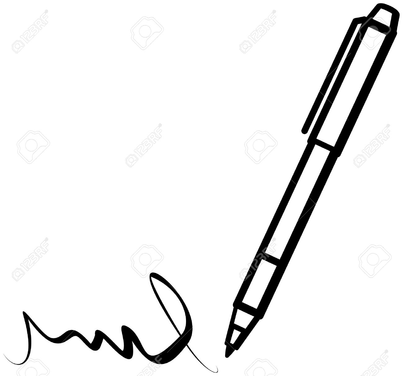 Black And White Clipart Writing