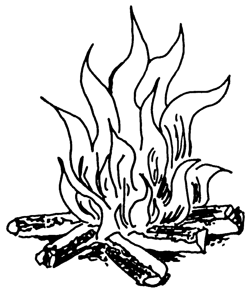 Black And White Fire