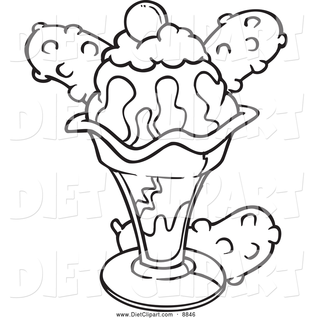 Black And White Ice Cream Clipart