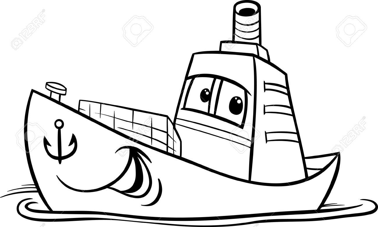 Boat Clipart Black And White