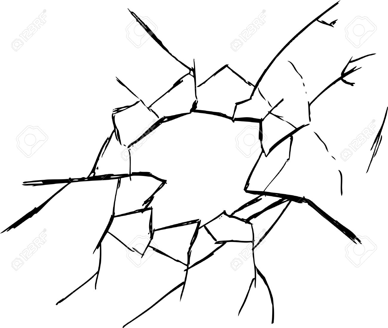 Broken Glass Clipart