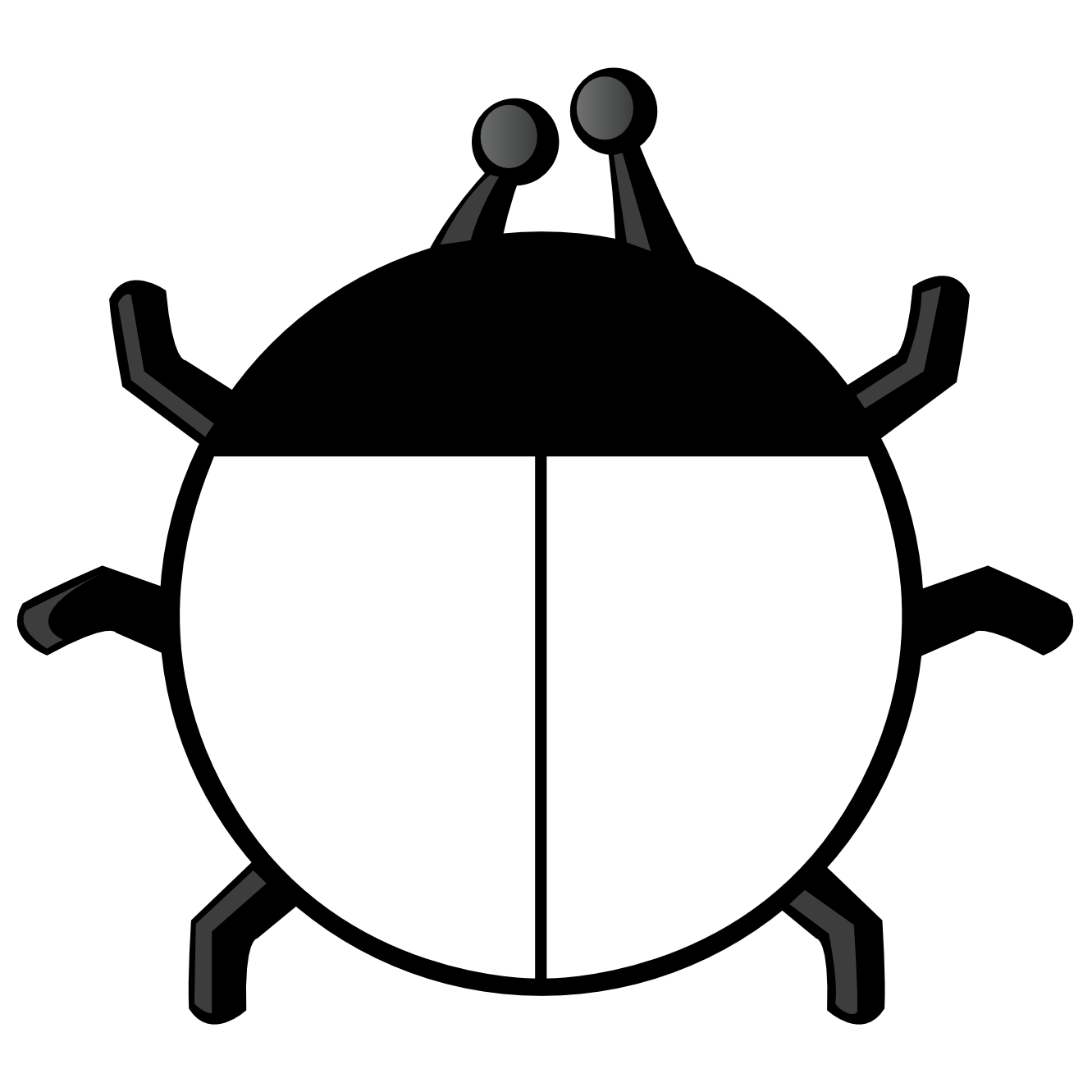 Bug Clipart Black And White
