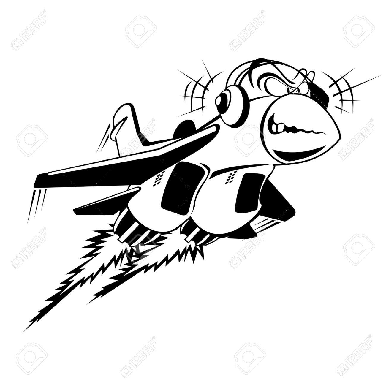 Cartoon Fighter Jet Clipart