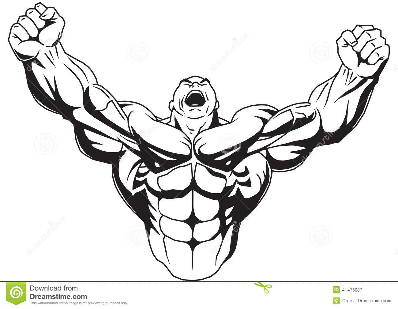 Cartoon Muscle Arm Clipart