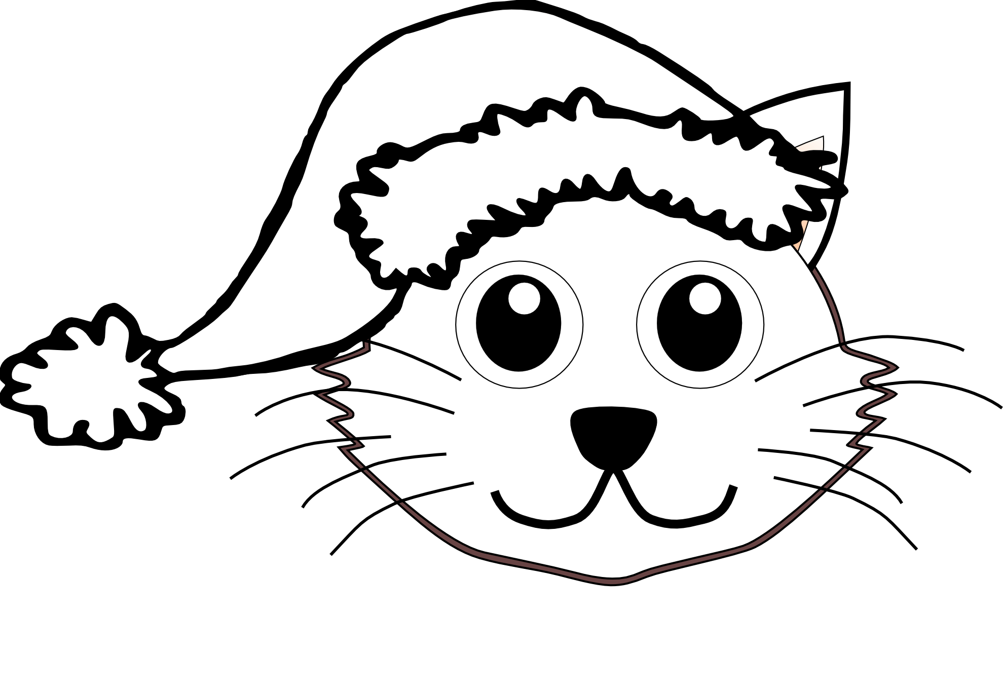 Cat In The Hat Black And White Clipart