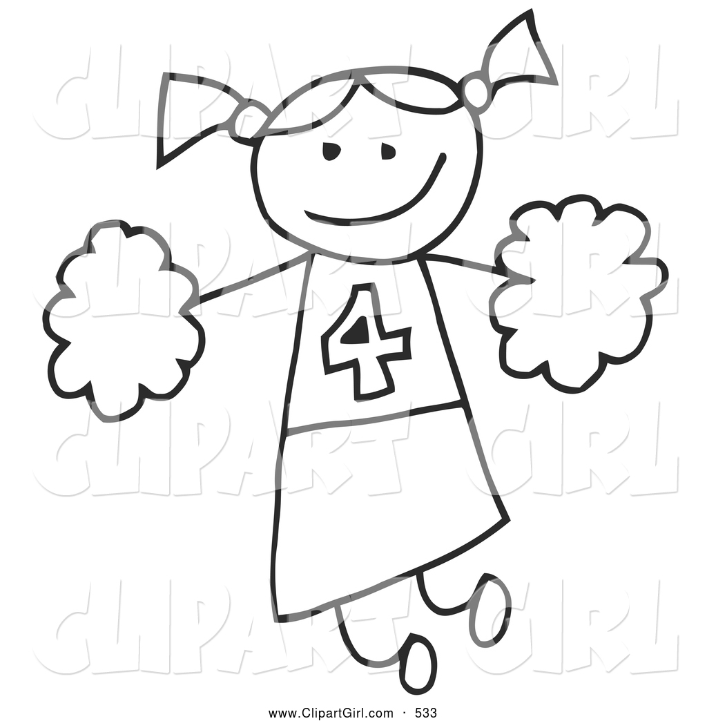Cheer Clipart Black And White