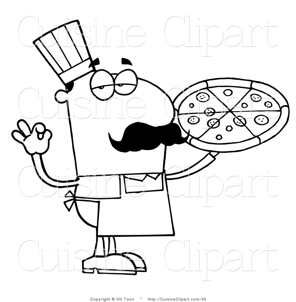 Chef Clipart Black And White
