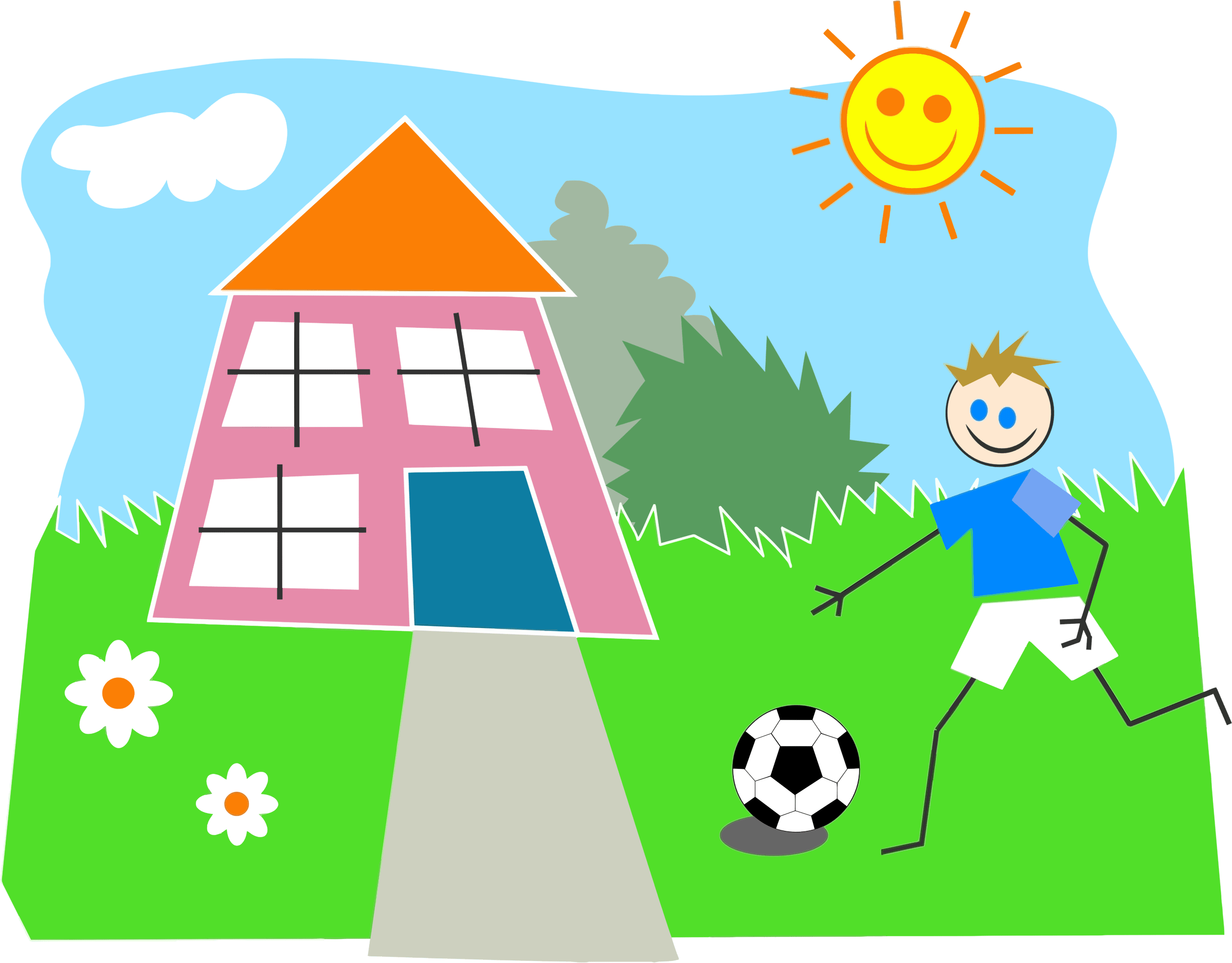 Children Playing Outside Clipart