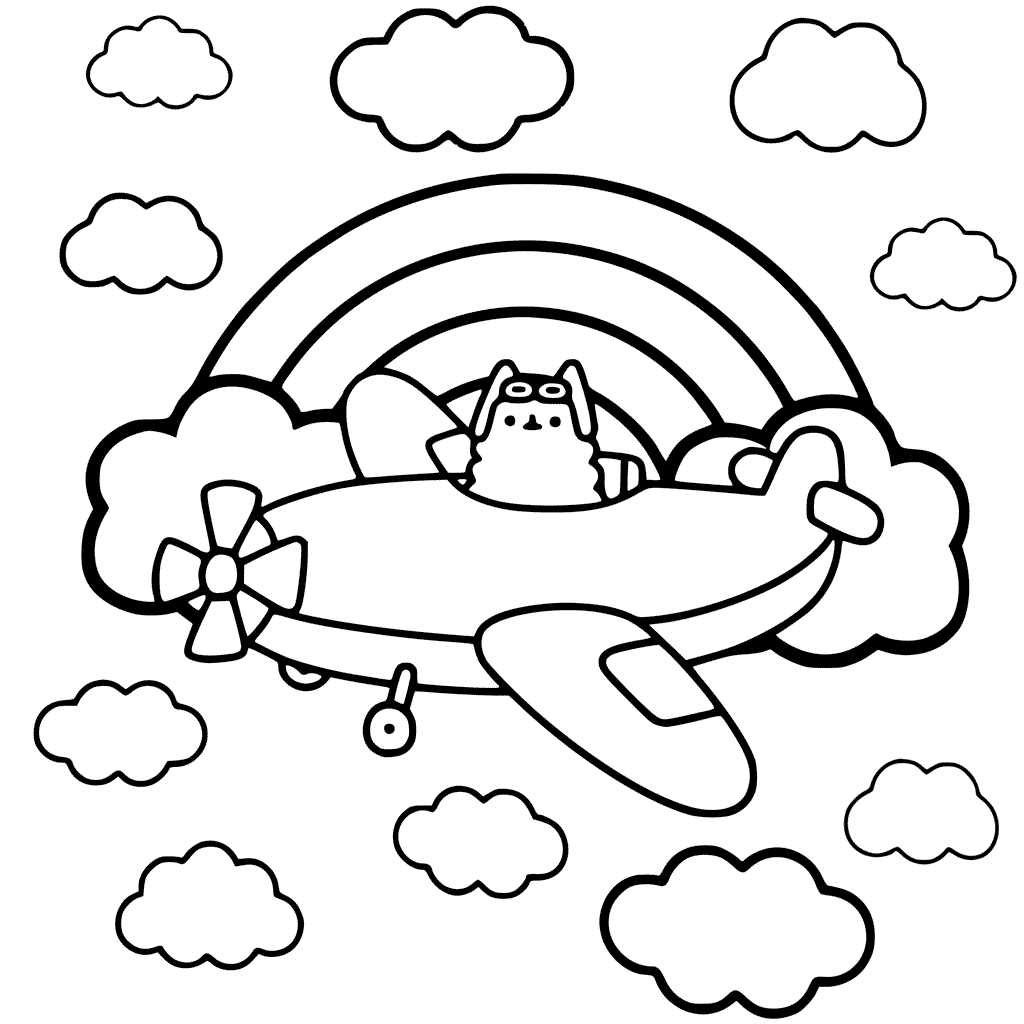Coloring Pages Pusheen