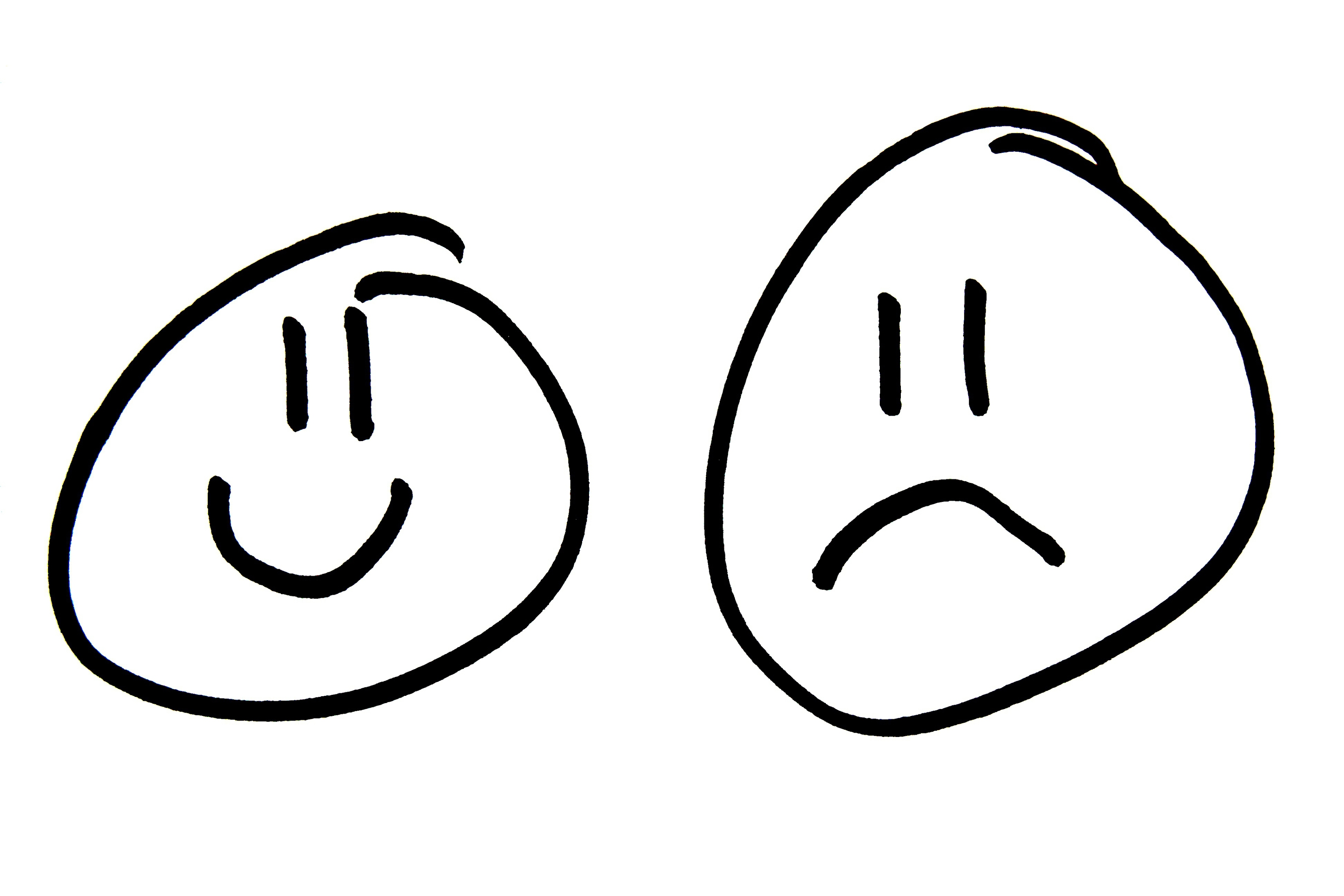 Crying Faces Clipart