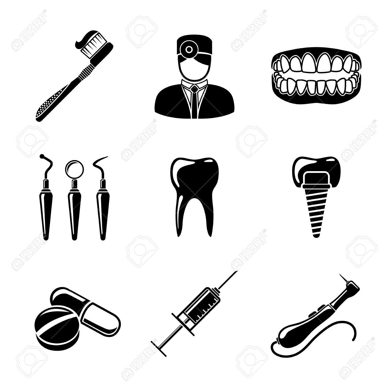 Dentist Clipart Black And White