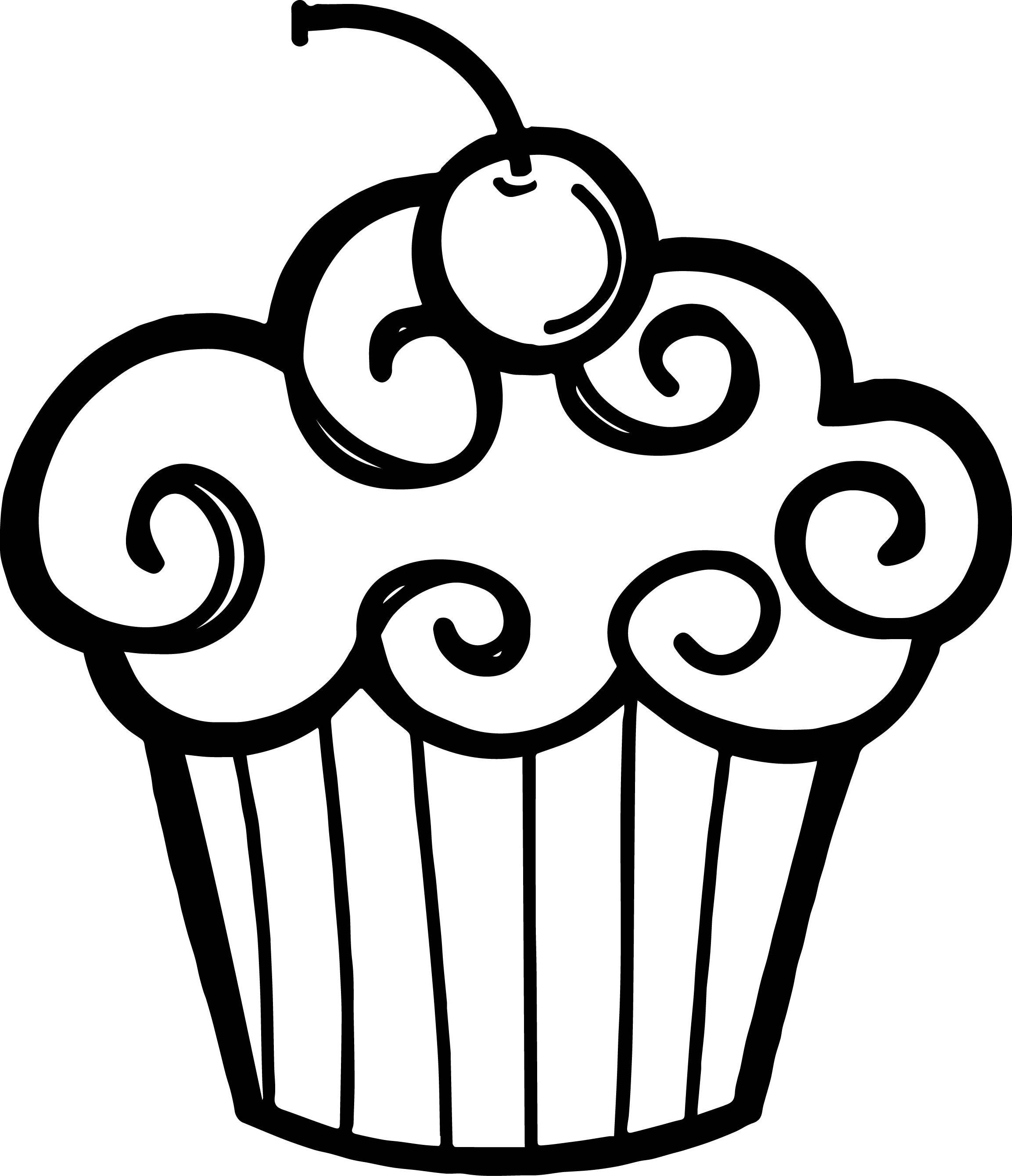 Dessert Clipart Black And White