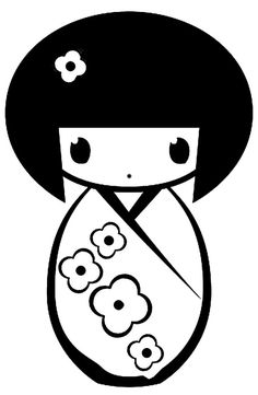 Doll Clipart Black And White | Free download on ClipArtMag (236 x 361 Pixel)