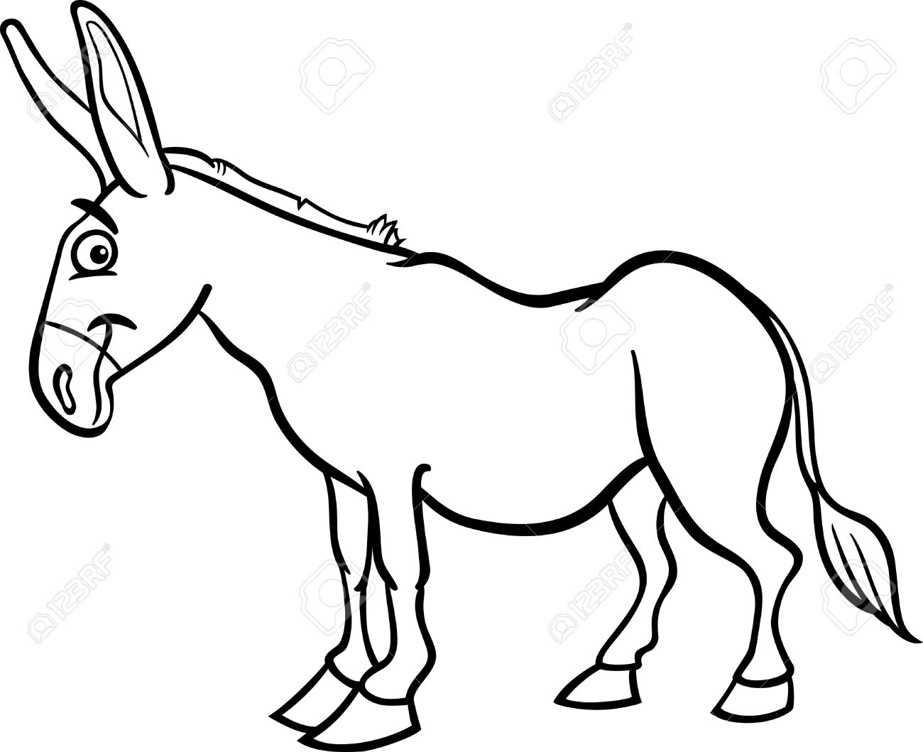 Donkey Clipart Black And White