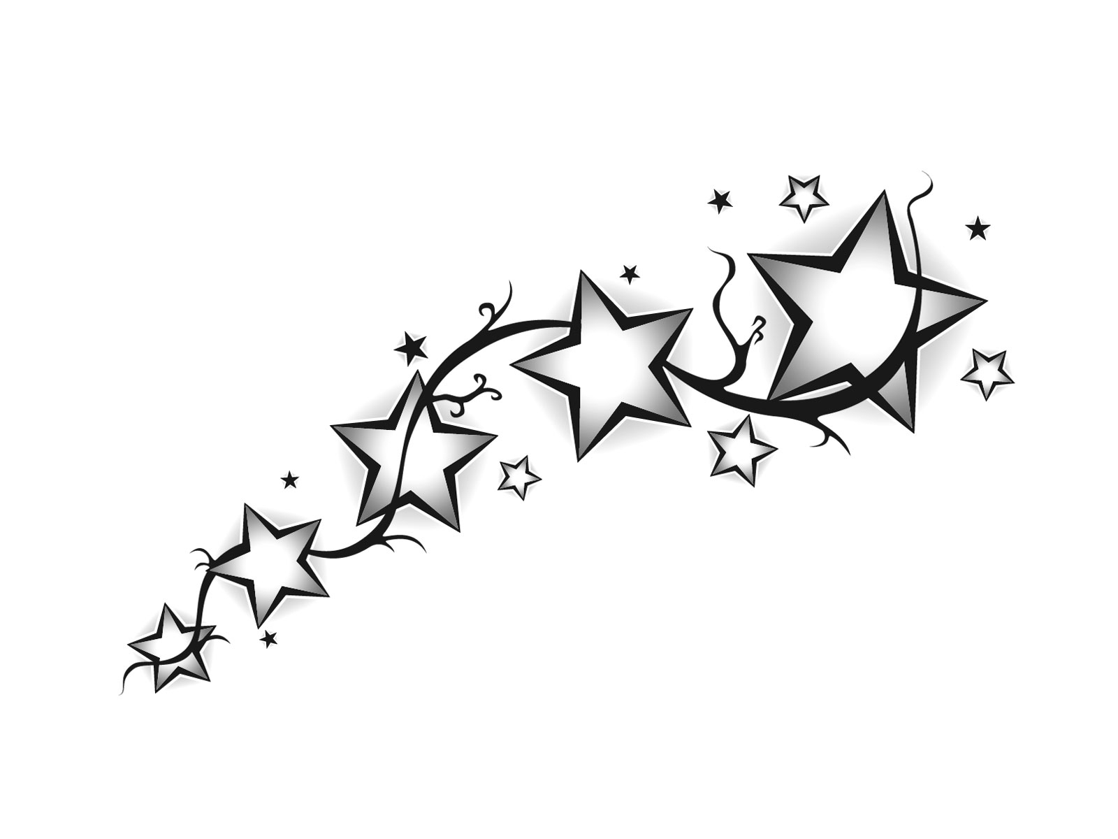 Drawing Of Shooting Star