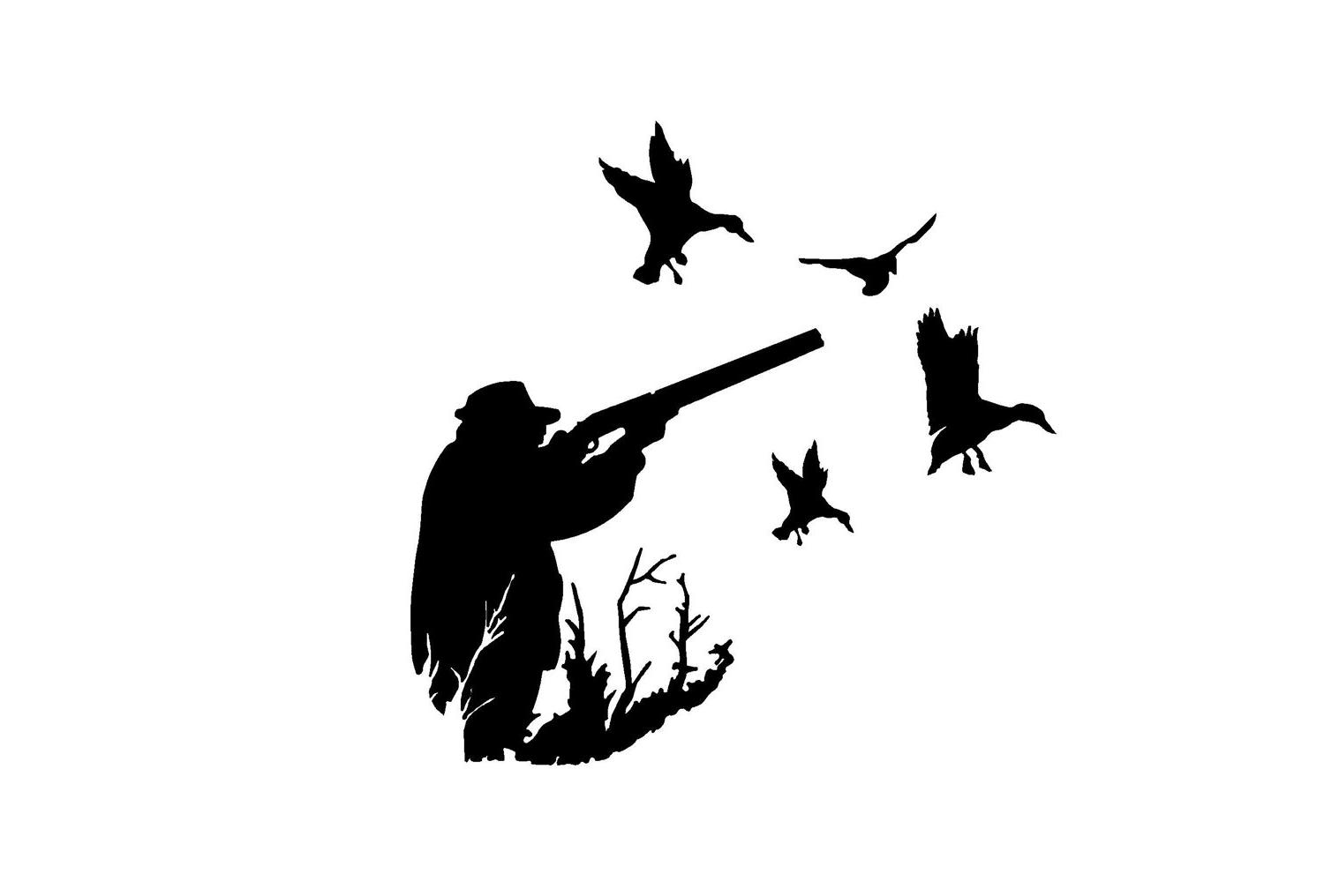 Duck Hunting Silhouette
