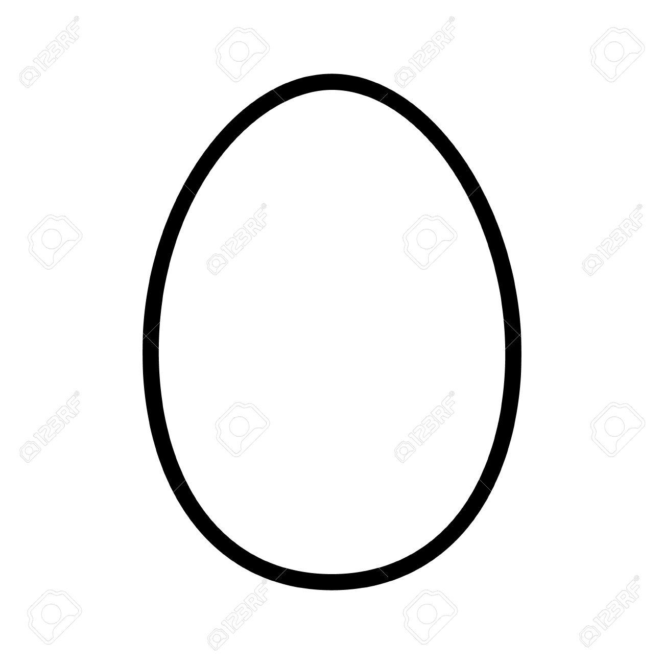 Egg Black And White Clipart