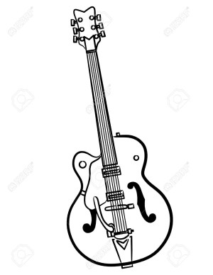 Electric Guitar Outline | Free download best Electric Guitar Outline on ClipArtMag