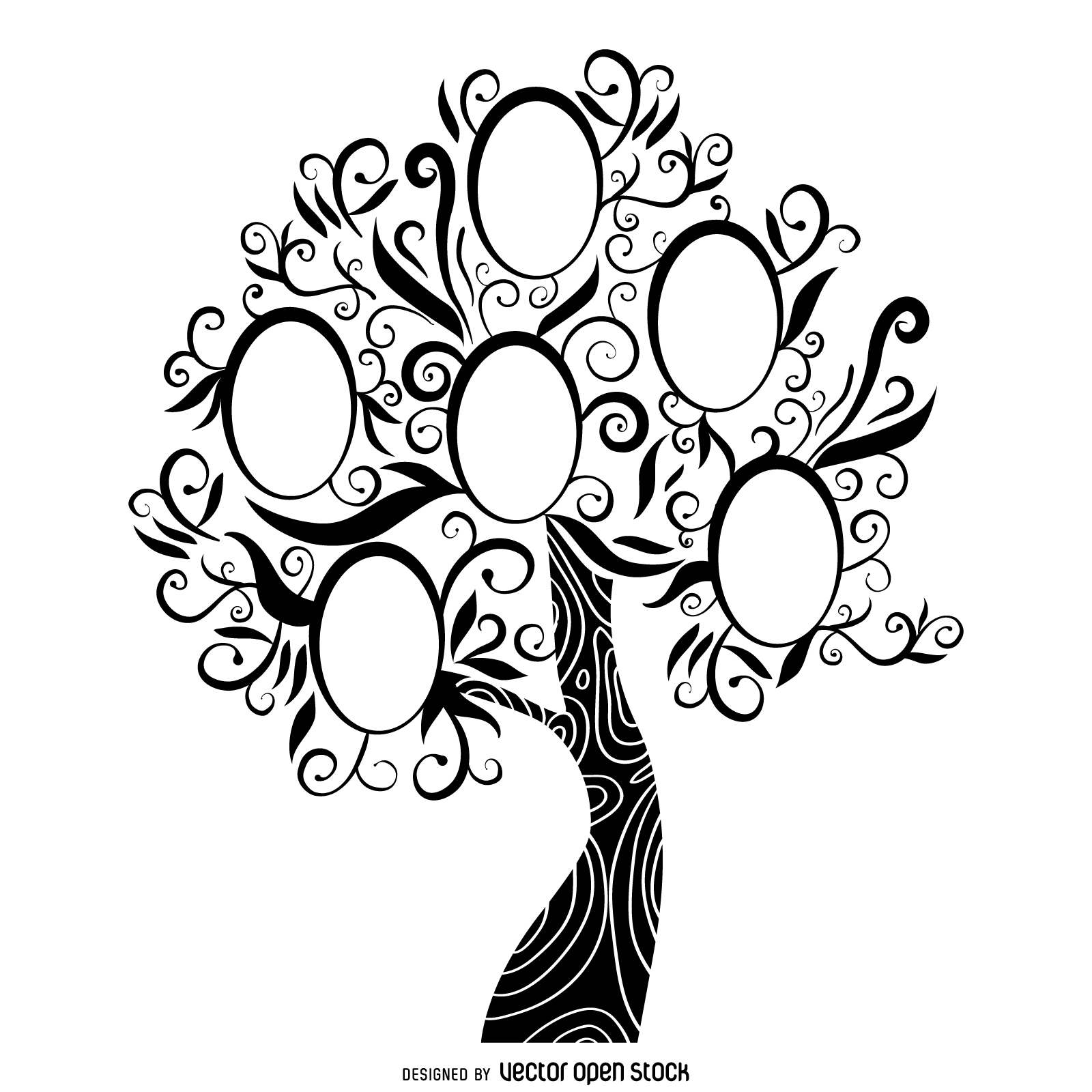 Family Tree Clipart Black And White