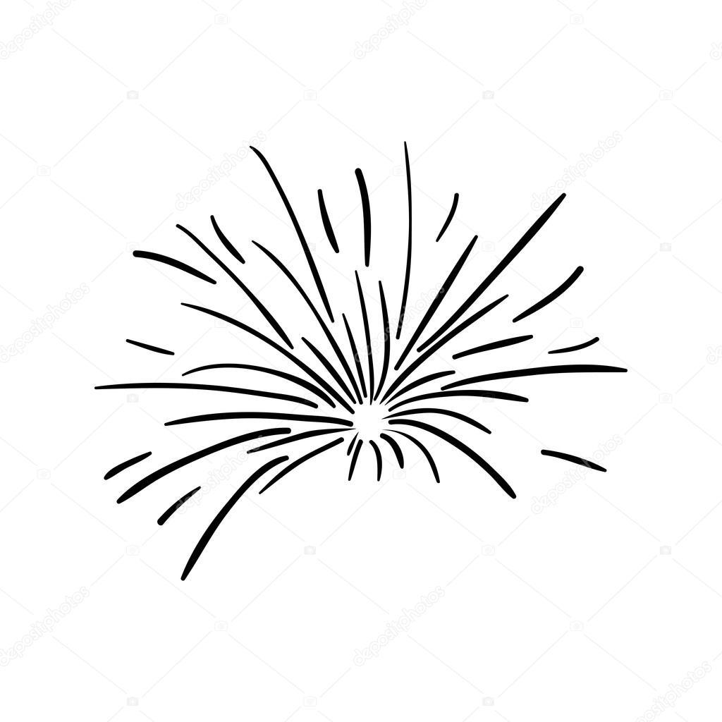 Fireworks Black And White