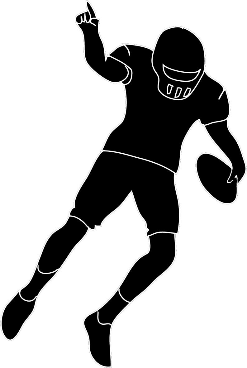 Football Player Outline   Free download on ClipArtMag (793 x 1181 Pixel)