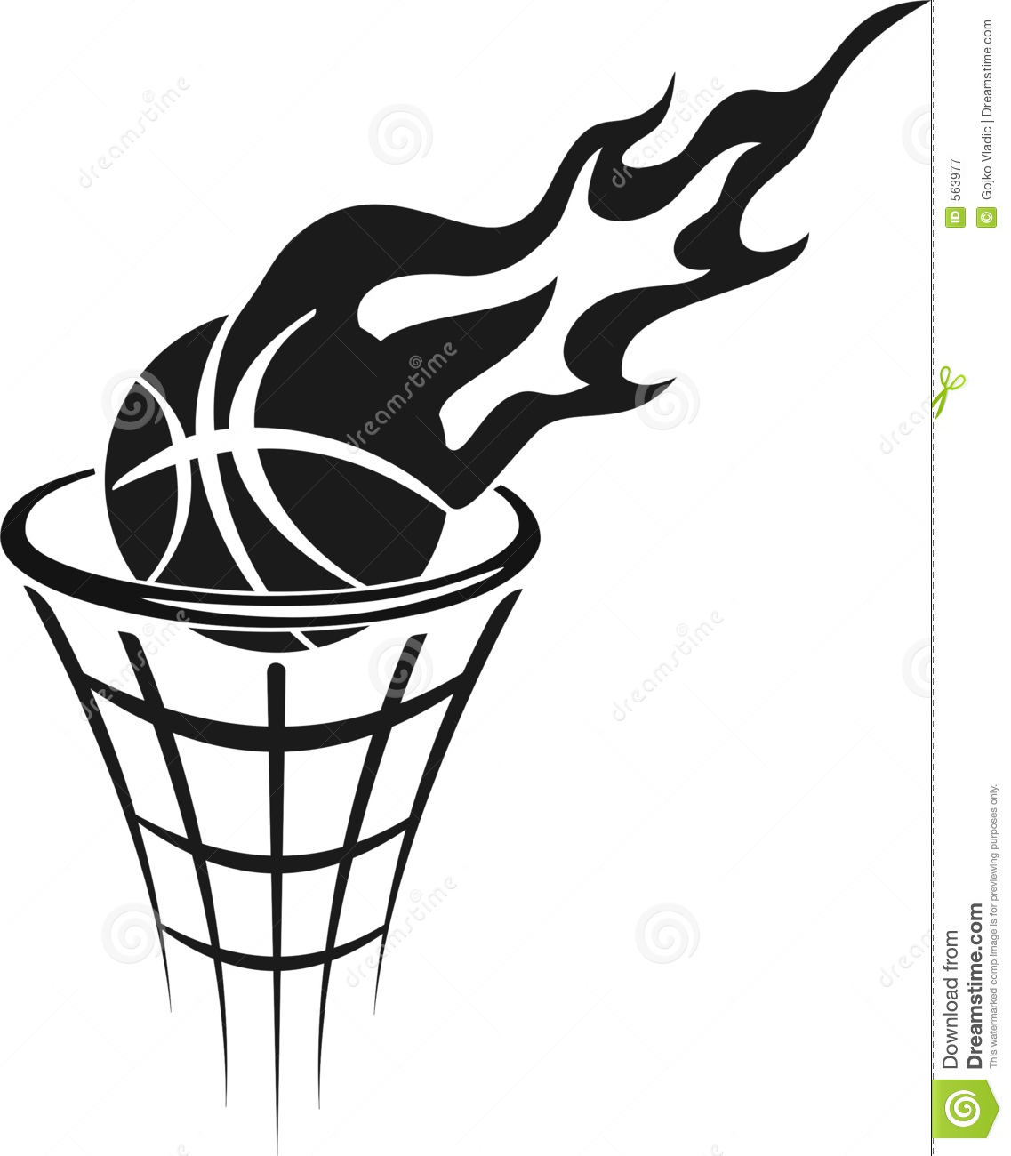 Free Basketball Clipart Black And White