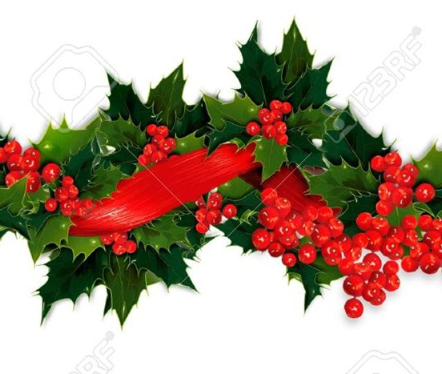 X Banner Christmas Garland Clip Art Merry Christmas Amp Happy New