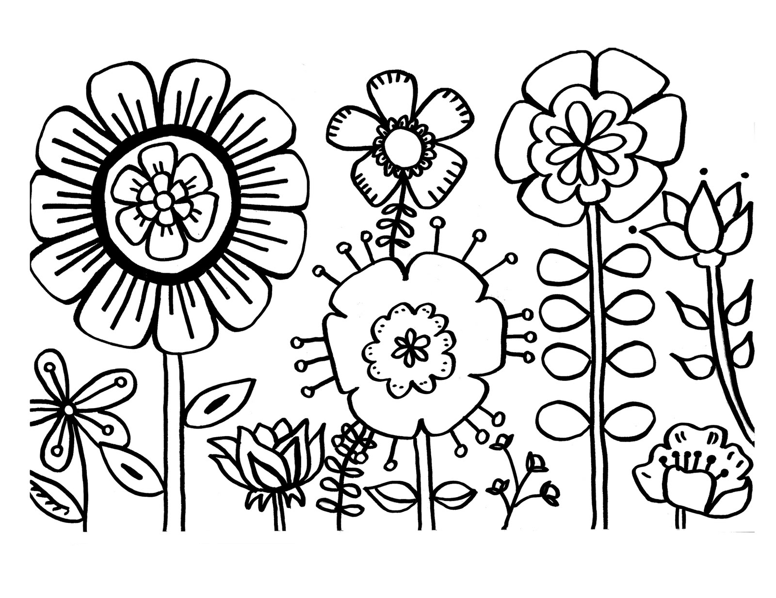 Free Printable Flower Templates Clipart