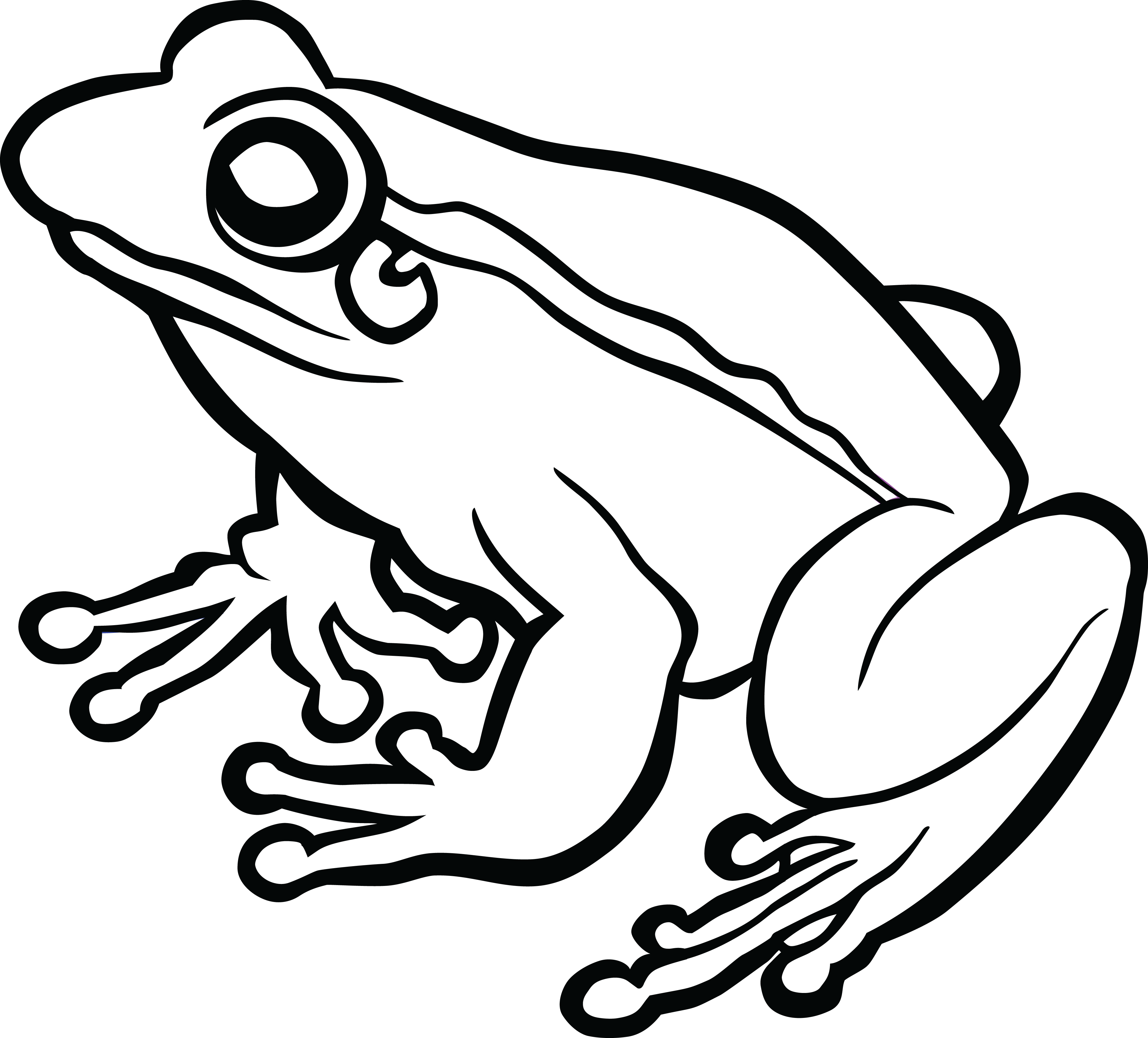 Frog Line Cliparts