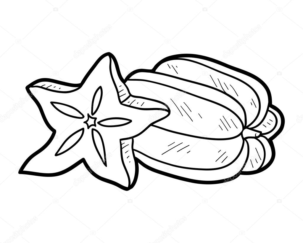 Fruits And Vegetables Clipart Black And White