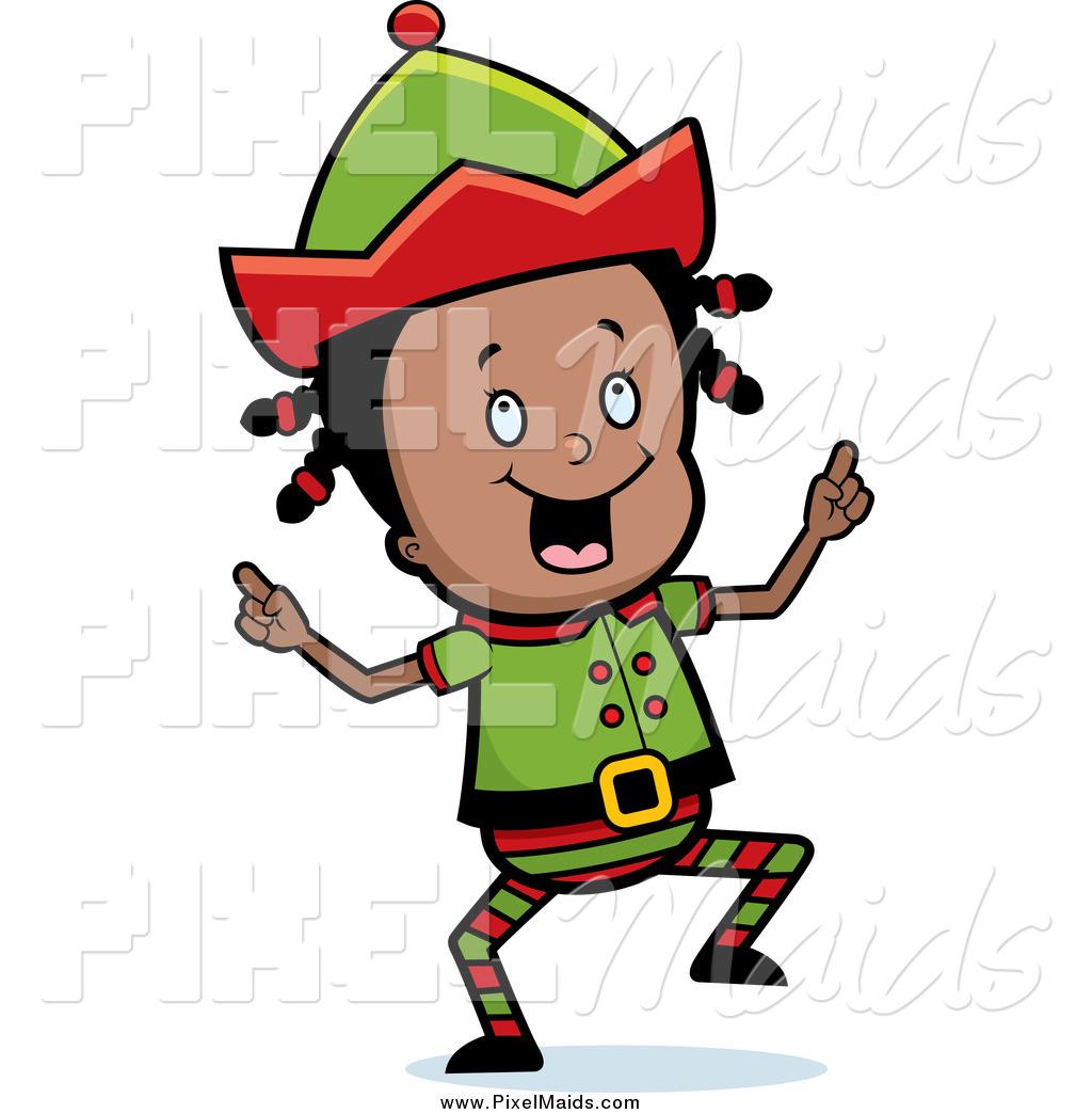 Cartoon Girl Scout Brownie Elf