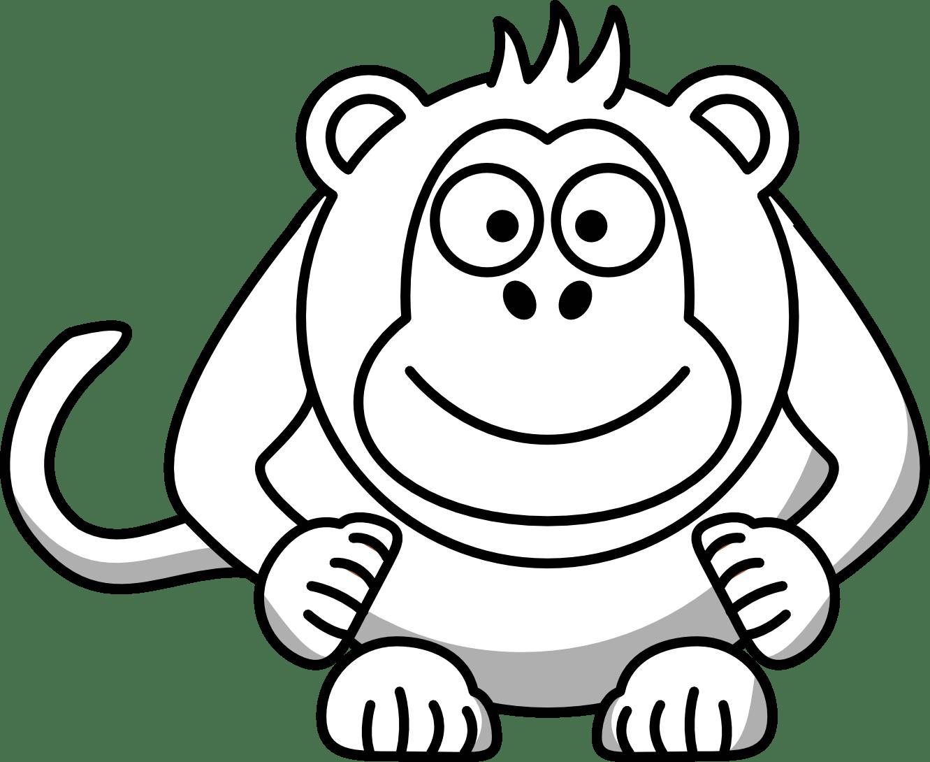 Gorilla Clipart Black And White