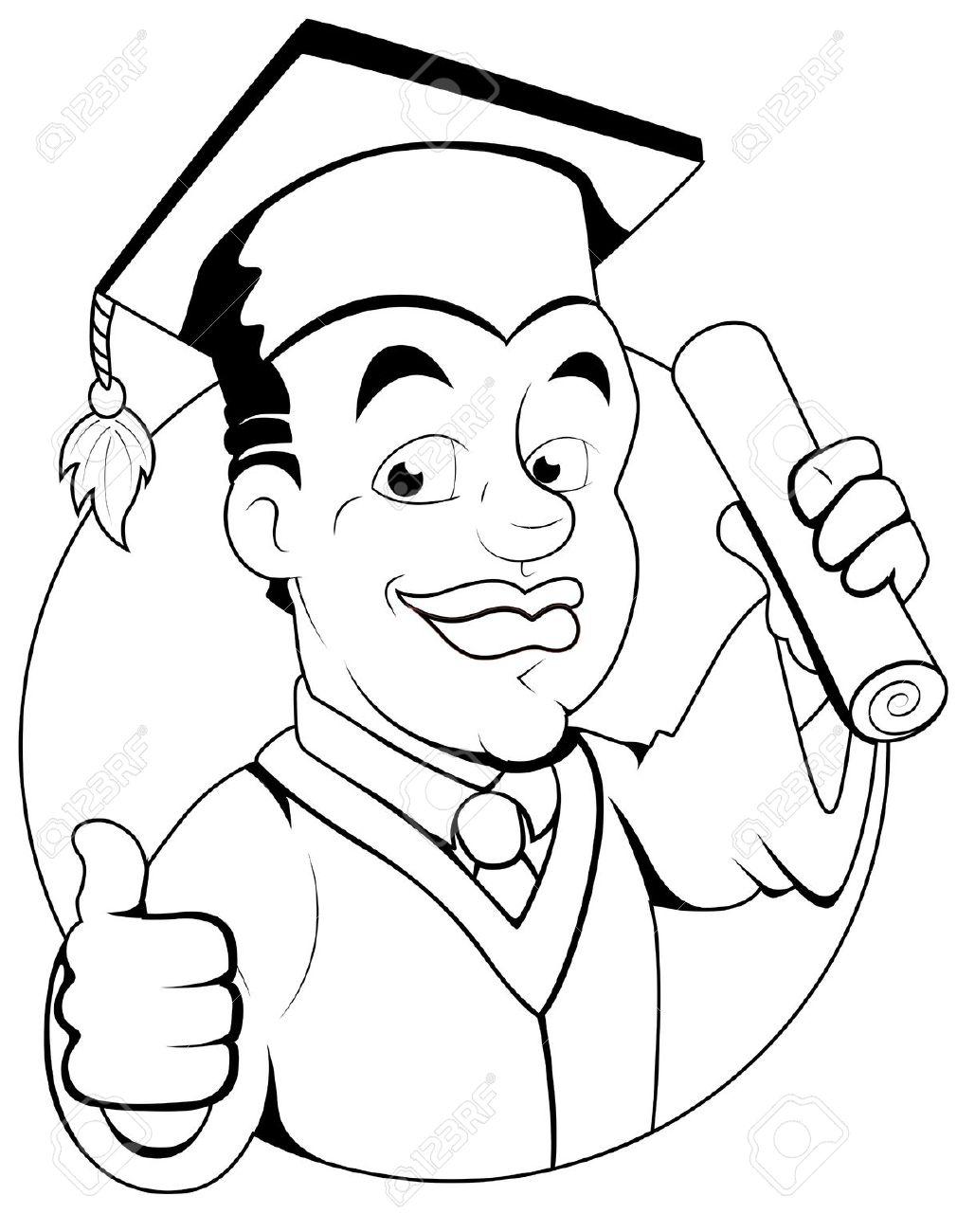 Graduation Clipart Black And White