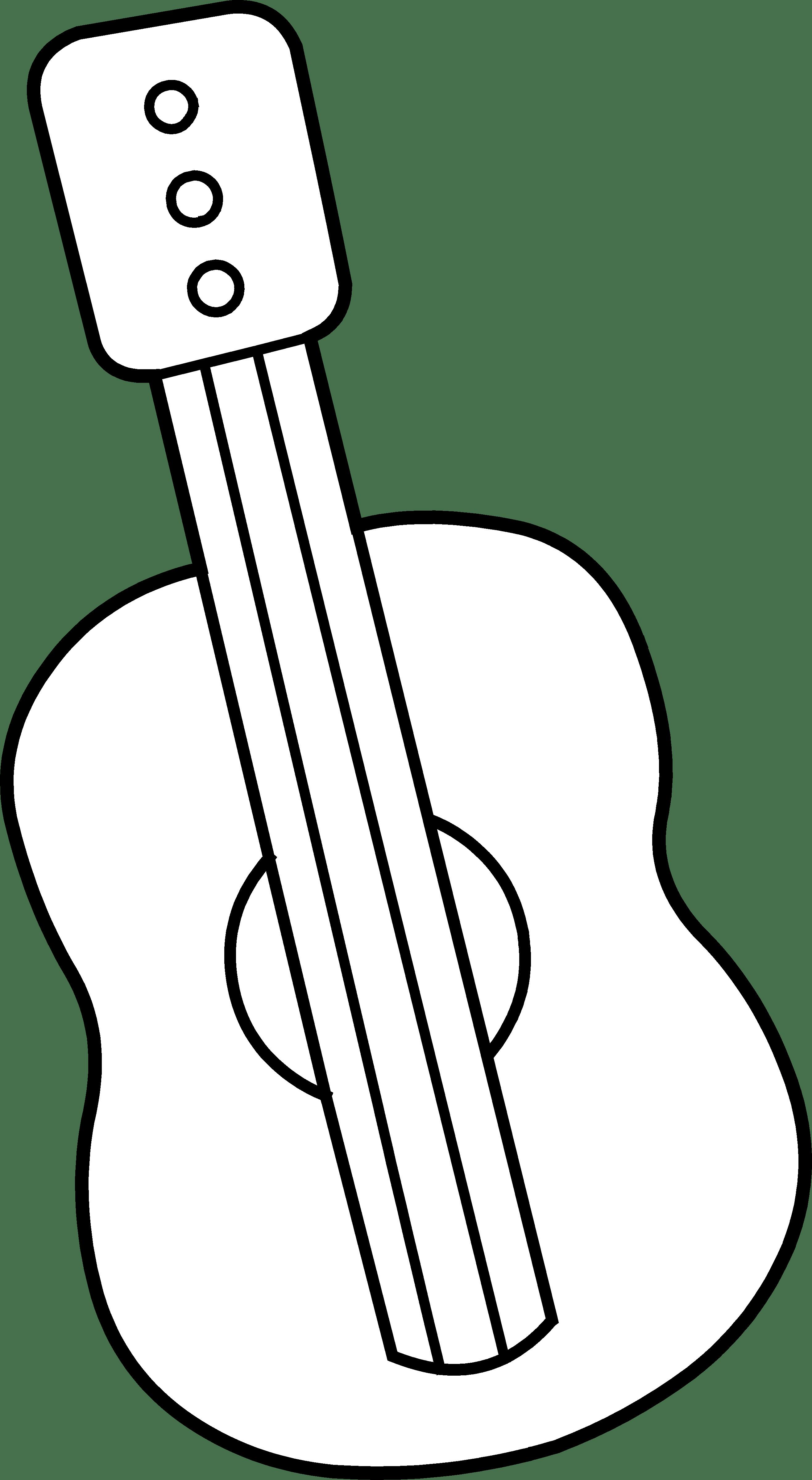 Guitar Outline Printable