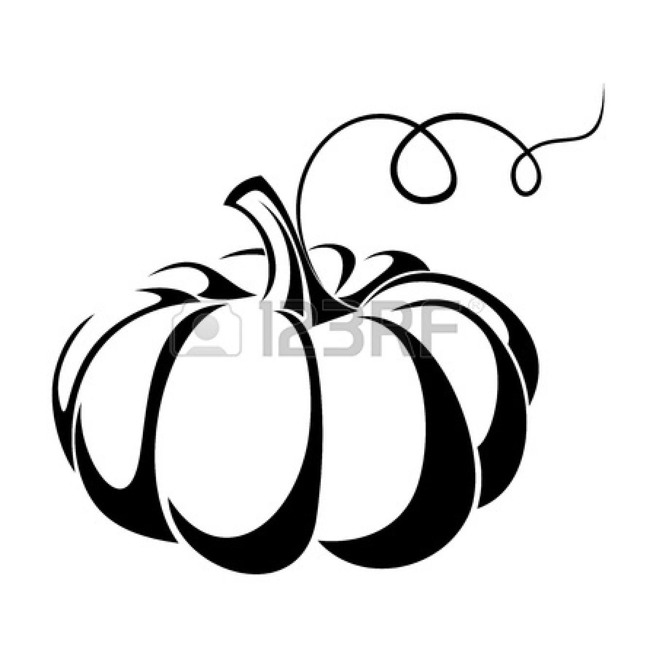 Halloween Pumpkin Clipart Black And White