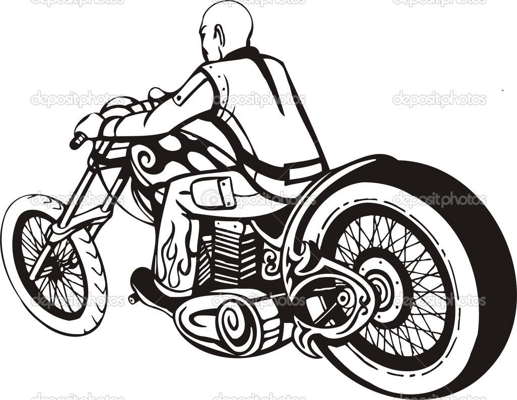 Harley Davidson Motorcycle Cliparts