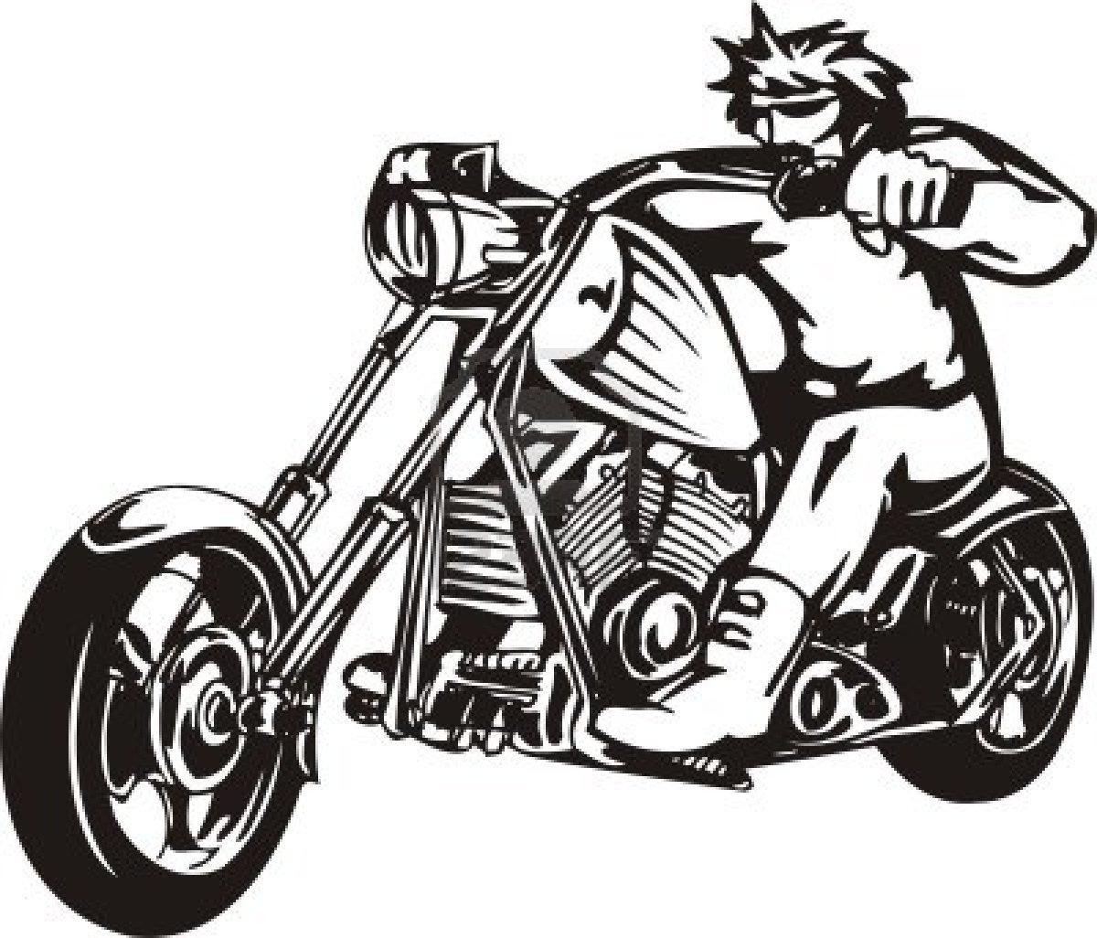 Harley Davidson Paint Stencils Clipart