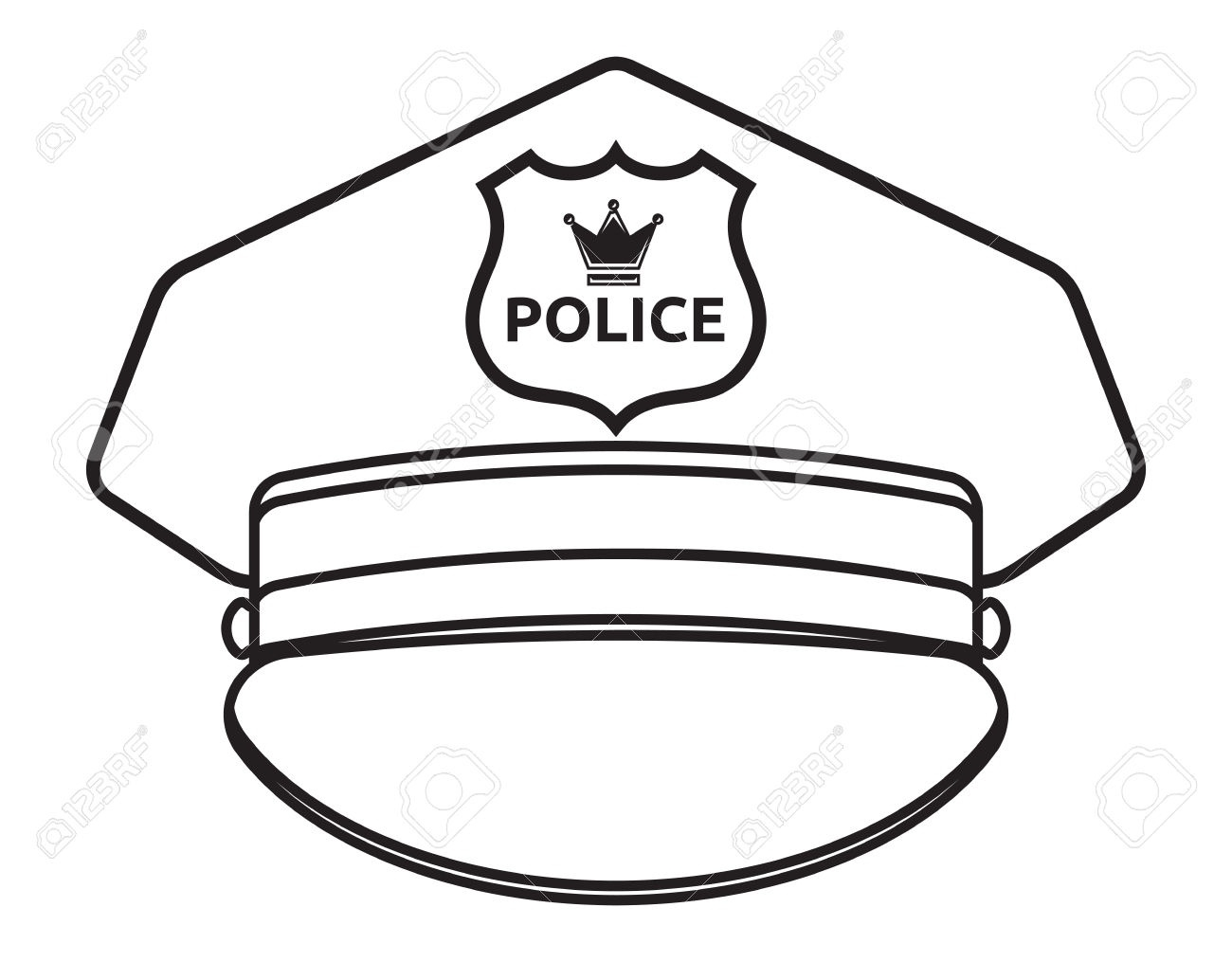 Hat Clipart Black And White