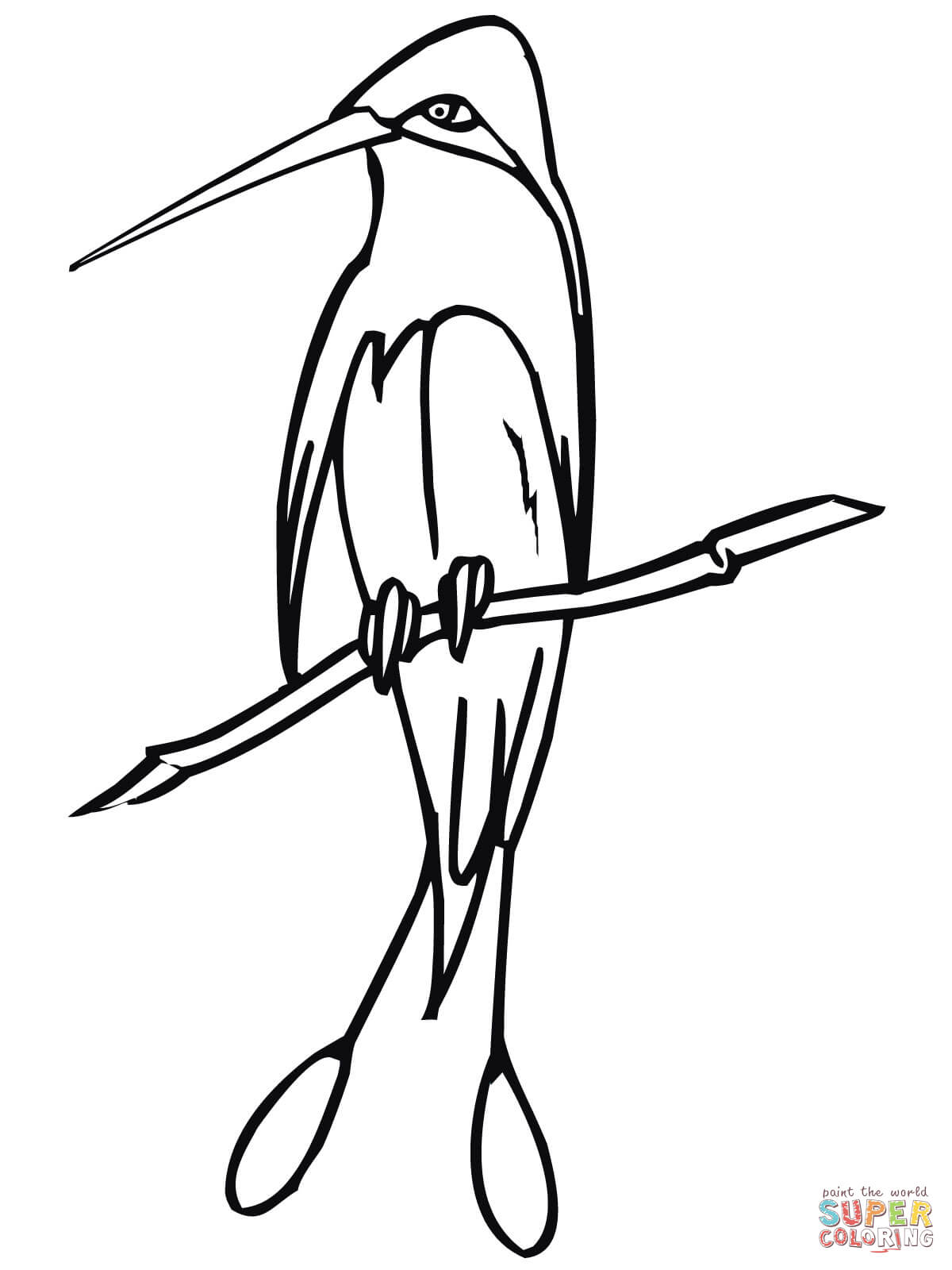Hummingbird Line Art